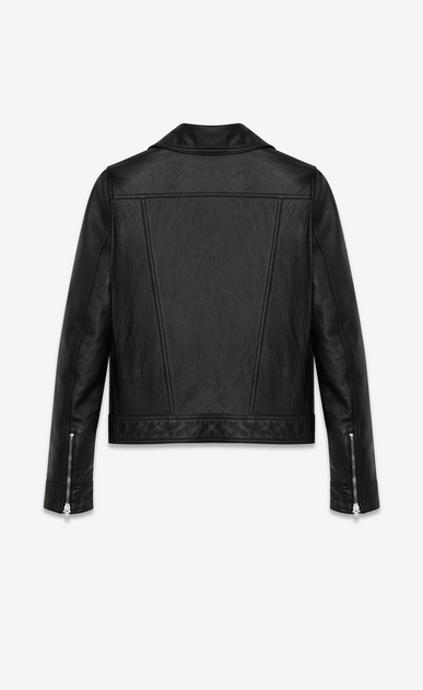 SAINT LAURENT Leather jacket D motorcycle slouch jacket in black leather b_V4