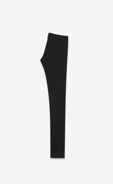 SAINT LAURENT Skinny fit Woman original low waisted skinny jean in black rinse stretch denim b_V4