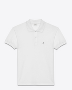 SAINT LAURENT Polos U CLASSIC POLO SHIRT IN White PIQUÉ COTTON f