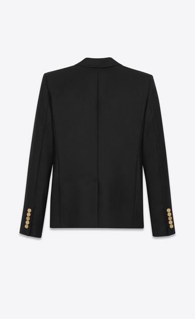SAINT LAURENT Blazer Jacket D CLASSIC BLAZER IN Black virgin WOOL GABARDINE b_V4