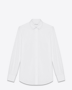 SAINT LAURENT Classic Shirts D PARIS COLLAR SHIRT IN WHITE COTTON POPLIN f