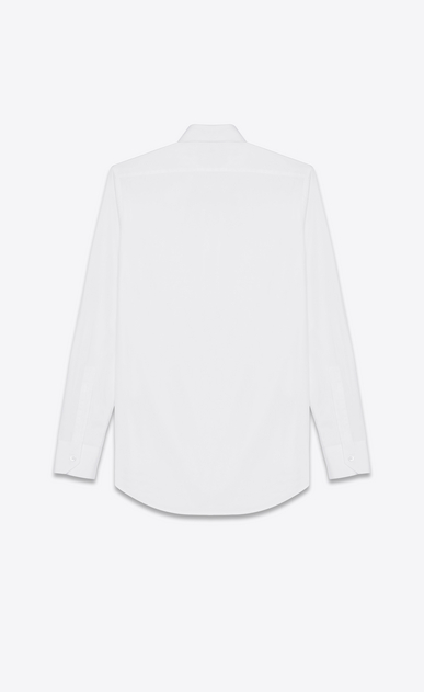 SAINT LAURENT Classic Shirts Woman PARIS COLLAR SHIRT IN WHITE COTTON POPLIN b_V4