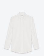 SAINT LAURENT Classic Shirts D PARIS COLLAR SHIRT IN White Silk CRÊPE f