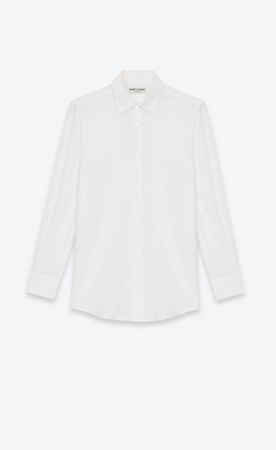 SAINT LAURENT Chemises classiques D Chemise à col Paris en crêpe de soie blanc v4
