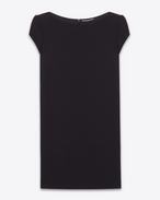 SAINT LAURENT Robes D Robe tube courte en jersey noir f