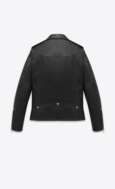 SAINT LAURENT Leather jacket Man saint laurent motorcycle jacket in lambskin b_V4