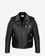SAINT LAURENT Leather jacket U Signature Motorcycle Jacket in Black Washed Leather f
