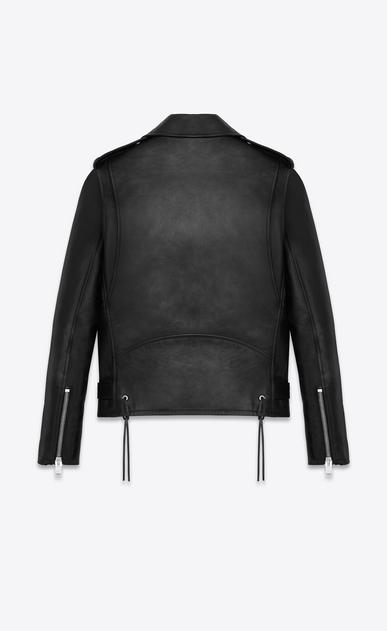SAINT LAURENT Leather jacket U Signature Motorcycle Jacket in Black Washed Leather b_V4