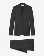 SAINT LAURENT Suits U classic suit in anthracite glen check plaid wool f