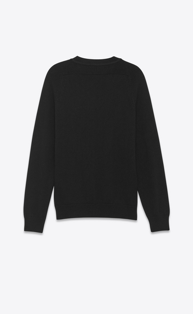 SAINT LAURENT Cashmere Tops U CLASSIC V-NECK CARDIGAN IN BLACK CAshmere b_V4