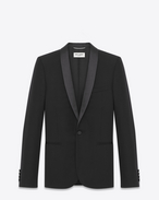 SAINT LAURENT Vestes de smoking U Veste de smoking iconique en grain de poudre texturé noir f