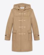 SAINT LAURENT Manteaux U Duffle-coat en laine camel f