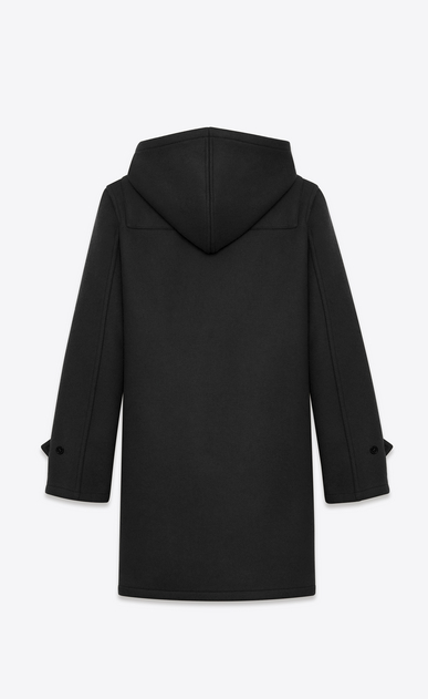 SAINT LAURENT Coats U CLASSIC DUFFLE COAT IN Black WOOL b_V4