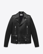 SAINT LAURENT Giacca di Pelle D Classic Motorcycle Jacket nera in pelle f