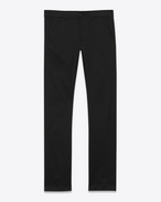 SAINT LAURENT Slim fit U Pantalon chino slim en gabardine de coton noire f