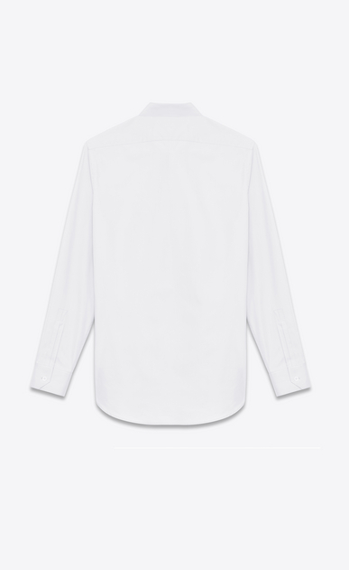 SAINT LAURENT Classic Shirts U SIGNATURE YVES COLLAR SHIRT IN White Cotton Poplin b_V4