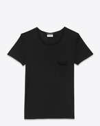 SAINT LAURENT T-Shirt and Jersey D Classic Ballet Collar T Shirt in Black Cotton Jersey f