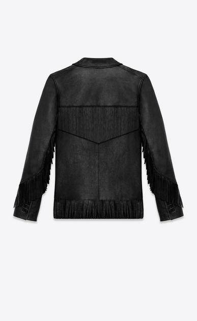 SAINT LAURENT Leather jacket D CLASSIC CURTIS FRINGE JACKET IN BLACK LEATHER b_V4