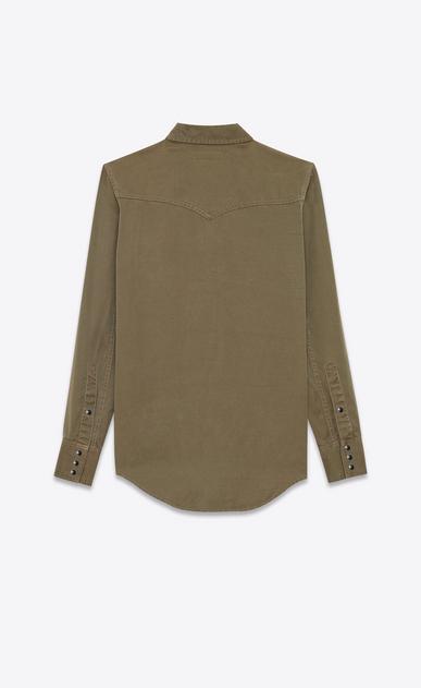 SAINT LAURENT Western Shirts D CLASSIC WESTERN SHIRT IN Khaki Twill b_V4