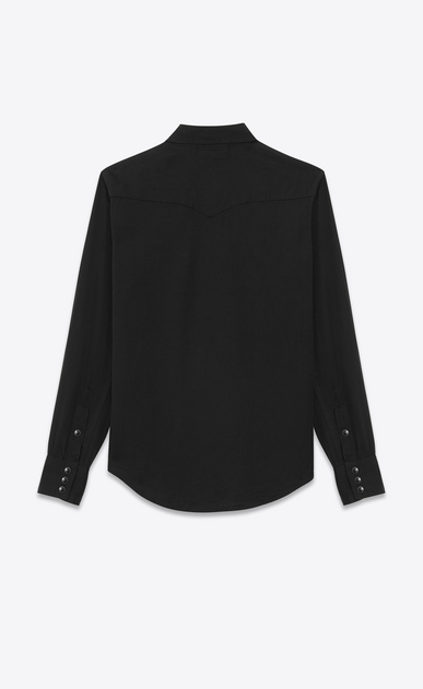 SAINT LAURENT Western Shirts U CLASSIC WESTERN SHIRT IN Black Twill b_V4