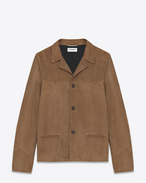 SAINT LAURENT Leather jacket U CLASSIC WESTERN JACKET IN BEIGE SUEDE f