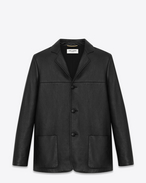 SAINT LAURENT Leather jacket D CLASSIC WESTERN JACKET IN BLACK LEATHER f