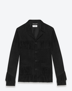 SAINT LAURENT Leather jacket U Classic Curtis Jacket in Black Suede f