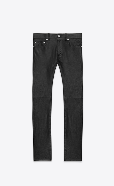 SAINT LAURENT Skinny fit U ORIGINAL LOW WAISTED SKINNY JEAN IN BLACK LEATHER a_V4
