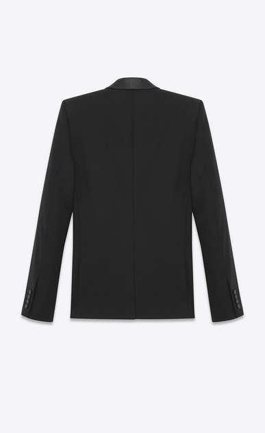 SAINT LAURENT Suits Man iconic le smoking suit in black textured virgin wool b_V4