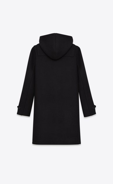 SAINT LAURENT Coats D classic duffle coat in black wool b_V4