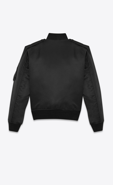 SAINT LAURENT Casual Jackets U classic bomber jacket in black nylon b_V4
