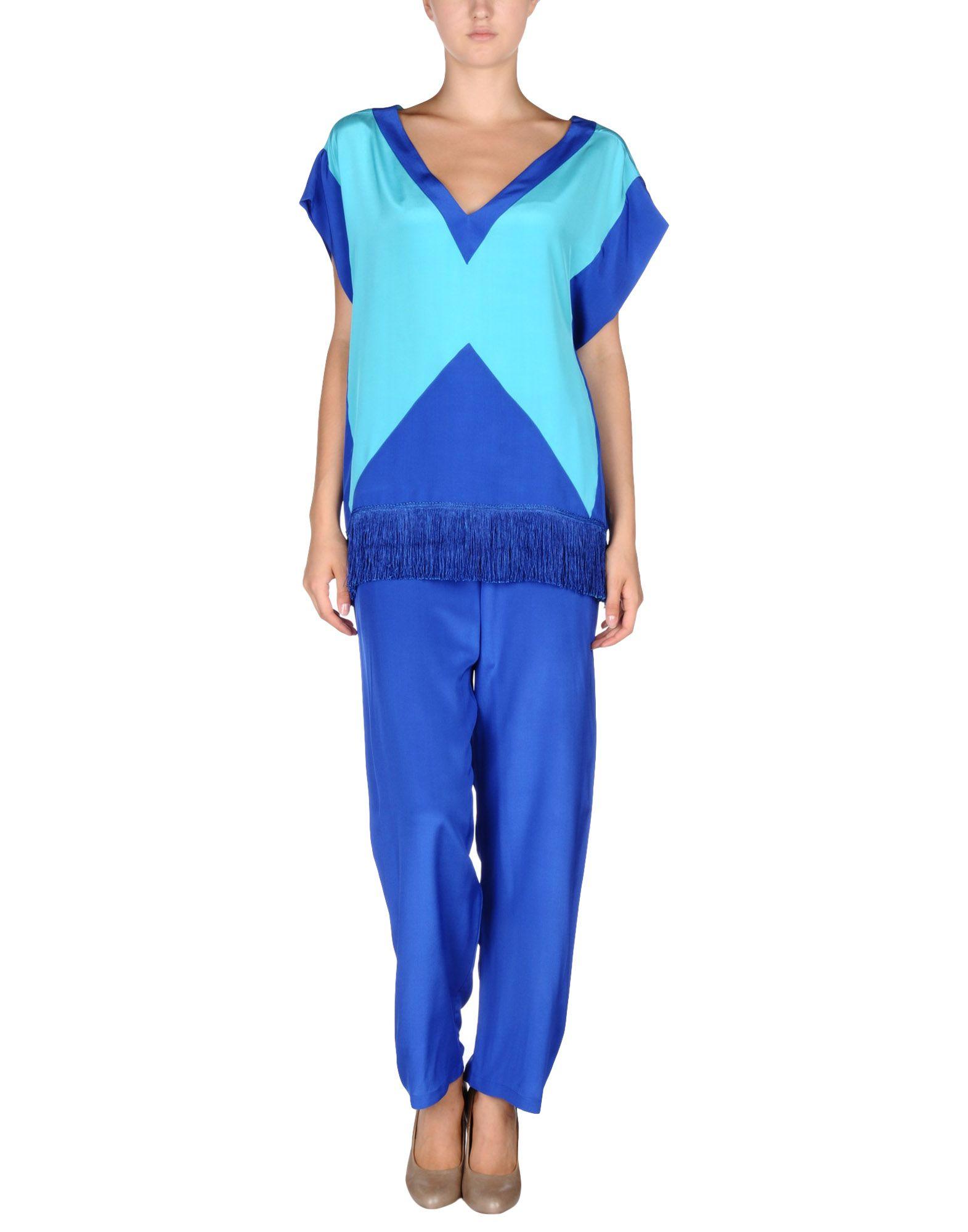 DEBONNAIRE レディース パジャマ ブルー S シルク 100%