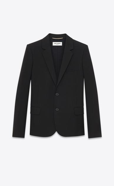 SAINT LAURENT Blazer Jacket D classic single-breasted jacket in black wool gabardine v4