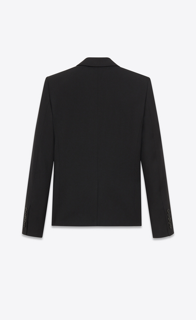 SAINT LAURENT Blazer Jacket D classic single-breasted jacket in black wool gabardine b_V4