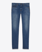 SAINT LAURENT Skinny fit U original low waisted skinny jean in dark blue stretch denim f
