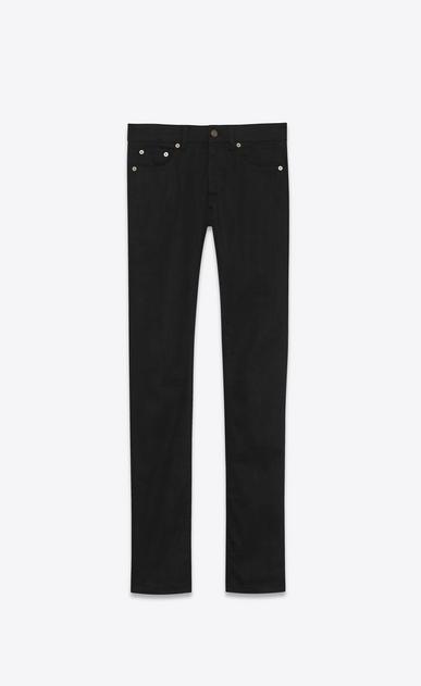 SAINT LAURENT Skinny fit U original low waisted skinny jean in raw black stretch denim v4
