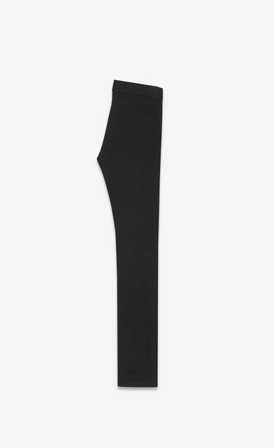 SAINT LAURENT Skinny fit U original low waisted ripped skinny jean in used black stretch light denim b_V4