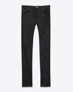 SAINT LAURENT Leather pants D signature low waisted skinny jeans in black leather f