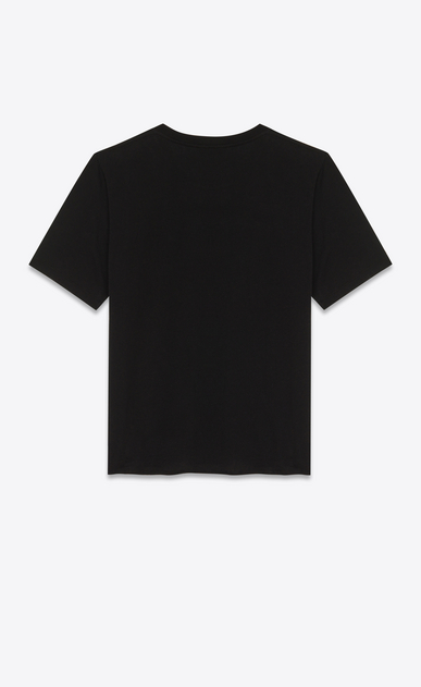 SAINT LAURENT T-Shirt and Jersey U Black and Red Short Sleeve Flame T-Shirt b_V4