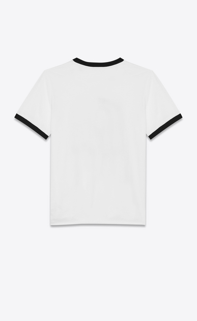 SAINT LAURENT T-Shirt and Jersey Man White and Black Short Sleeve SAINT LAURENT UNIVERSITÉ Ringer T-Shirt b_V4