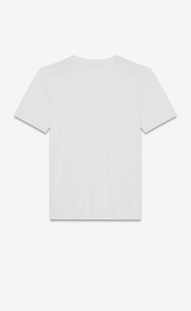 SAINT LAURENT T-Shirt and Jersey U T-shirt in ivory cotton with a black APPELLE MOI print b_V4
