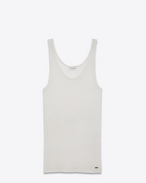 SAINT LAURENT T-Shirt and Jersey D tank top in ivory jersey f