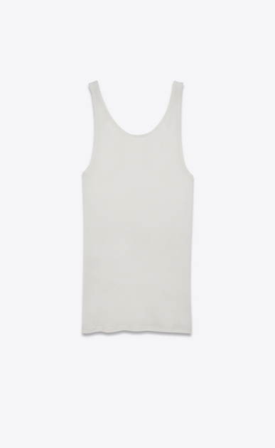 SAINT LAURENT T-Shirt and Jersey D tank top in ivory jersey b_V4