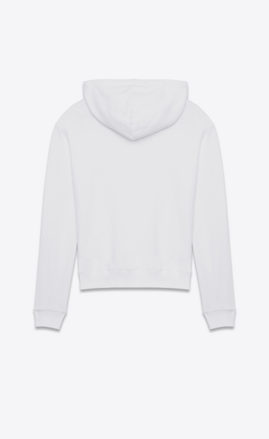 SAINT LAURENT Sportswear Tops Man saint laurent signature cropped hoodie in white french terrycloth b_V4