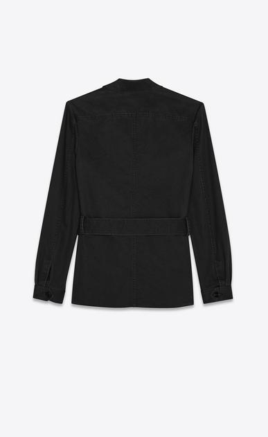 SAINT LAURENT Casual Jackets Woman saharienne jacket in black cotton gabardine b_V4