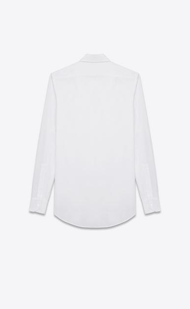 SAINT LAURENT Classic Shirts Woman evening shirt in white cotton poplin b_V4