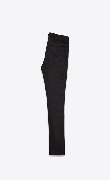 SAINT LAURENT Skinny fit Woman mid-rise skinny jeans in black stretch denim b_V4