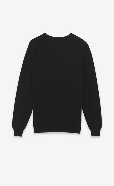 SAINT LAURENT Cashmere Tops Man saint laurent crew neck sweater in black cashmere b_V4