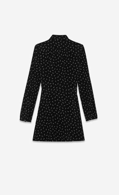 SAINT LAURENT Dresses Woman Dress with Eiffel Tower print in black crepe de chine b_V4