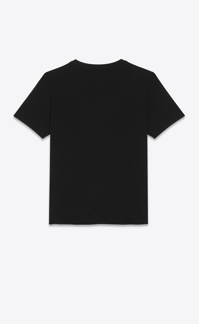 SAINT LAURENT T-Shirt and Jersey Man Classic Paris T-shirt in black jersey b_V4